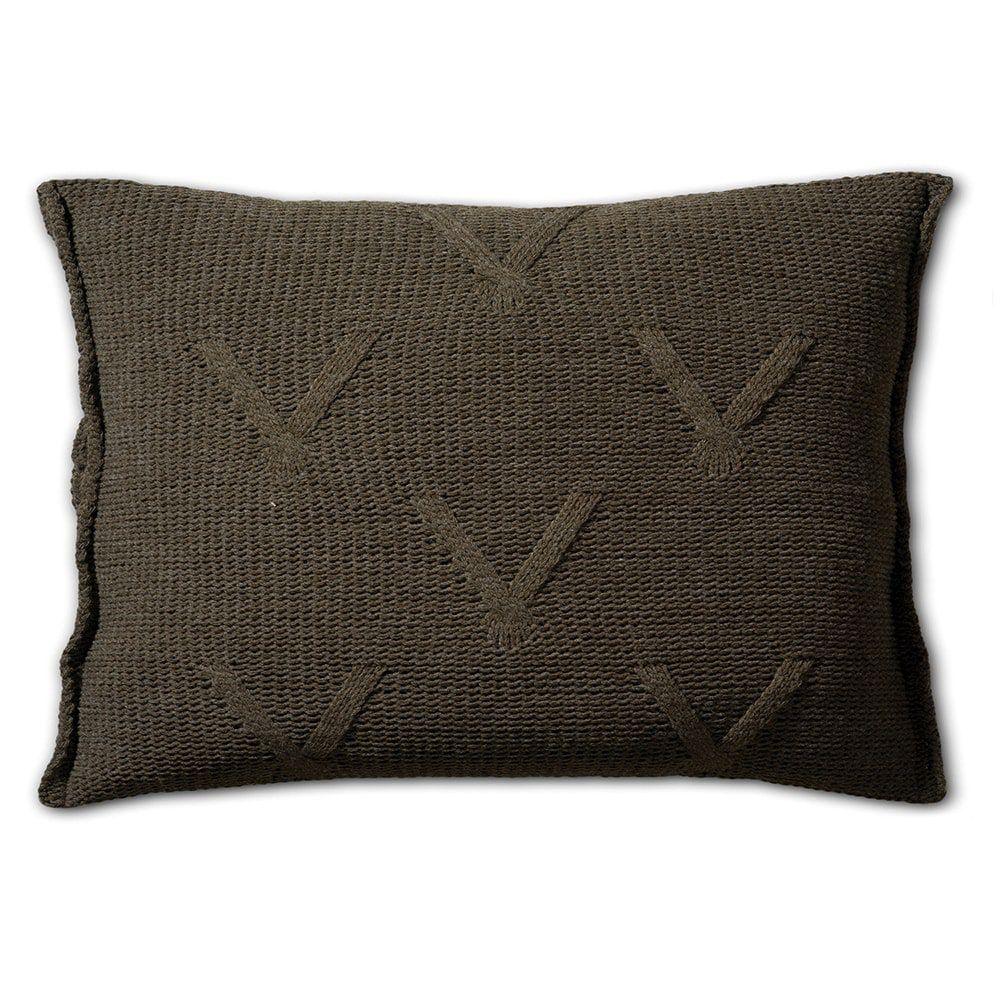 knit factory 1101314 kussen 60x40 aran groen 2
