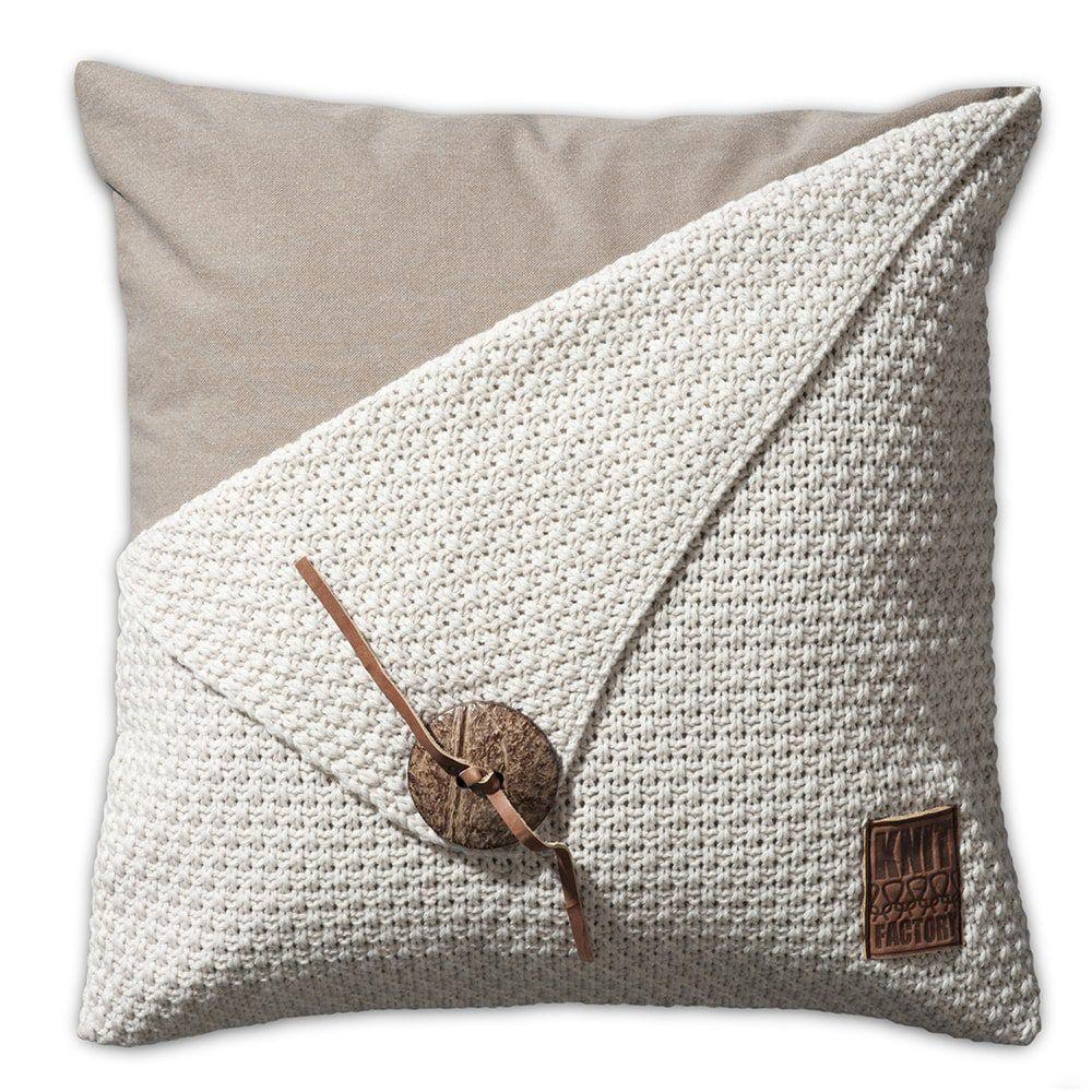 knit factory 1111212 kussen 50x50 barley beige