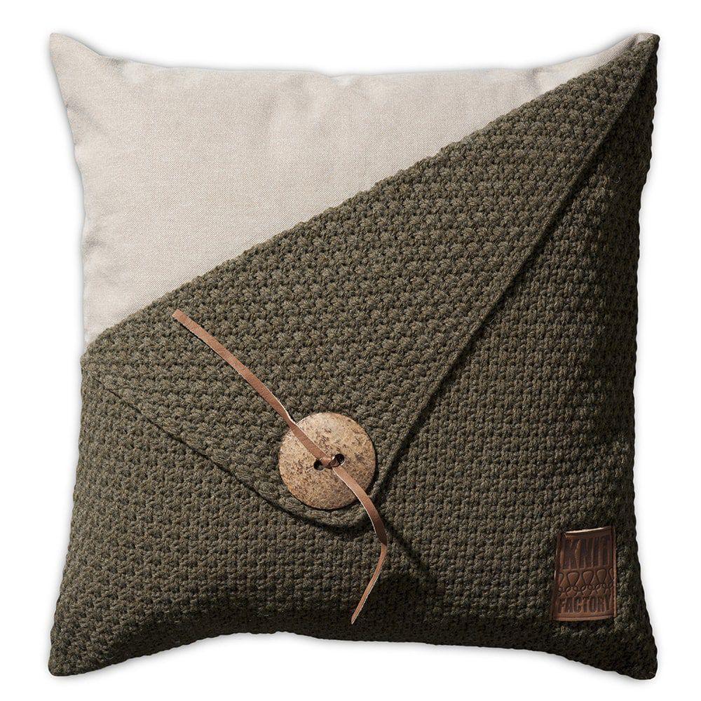 knit factory 1111214 kussen 50x50 barley groen