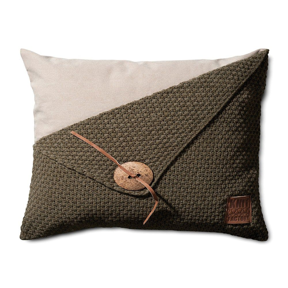 knit factory 1111314 kussen 60x40 barley groen
