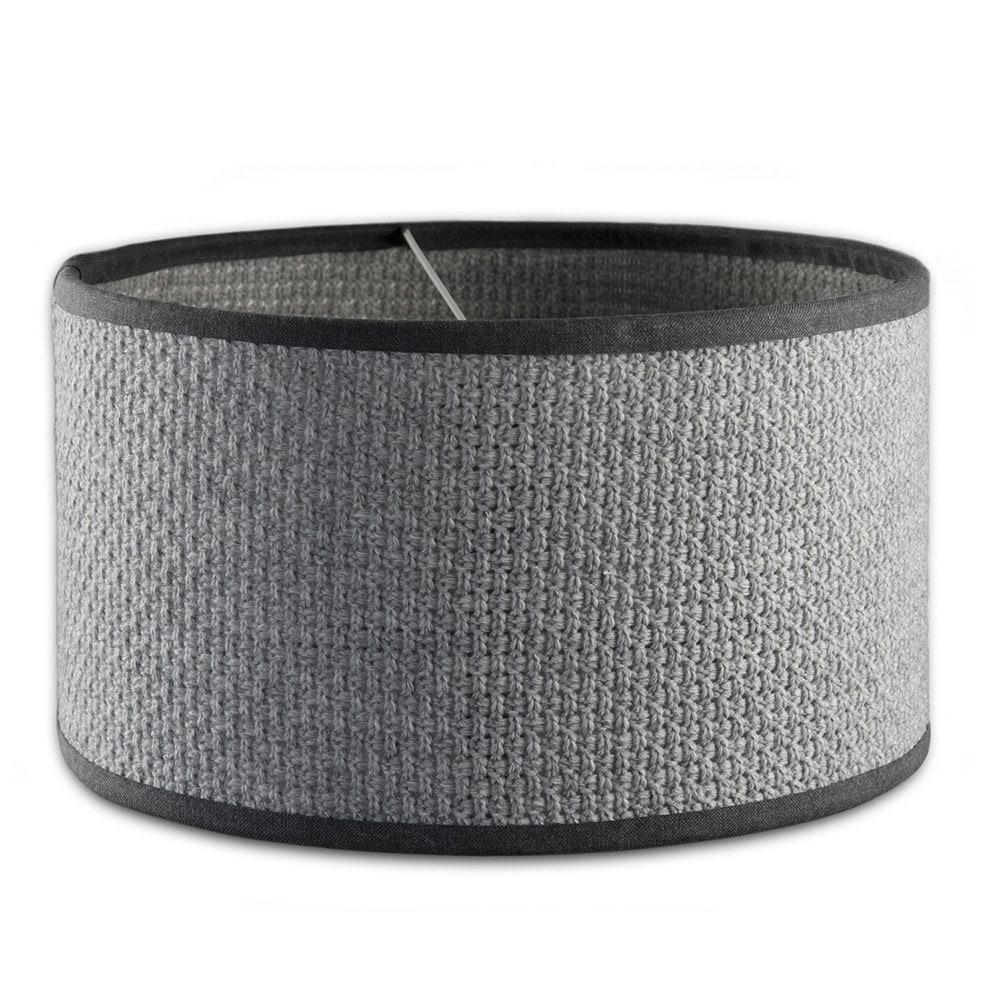 knit factory 1111511 lampkap 50 barley licht grijs
