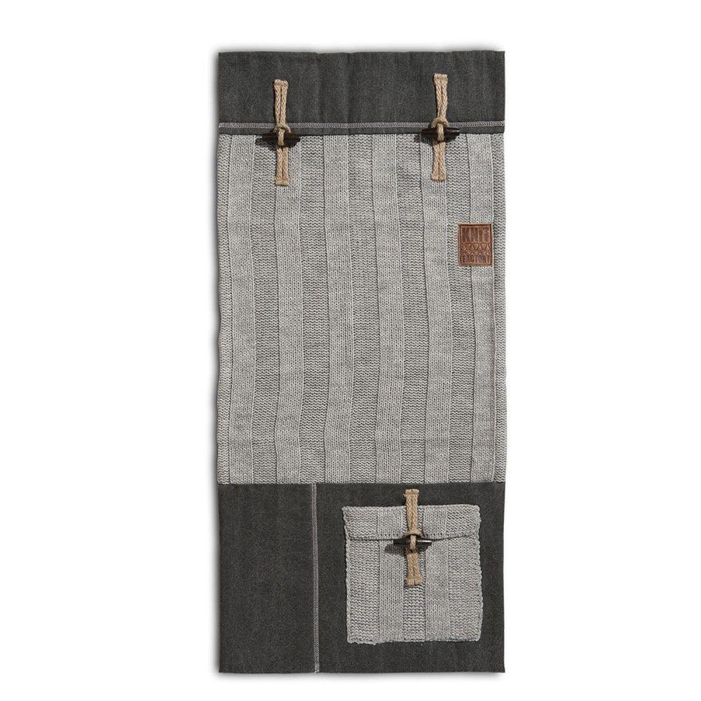knit factory 1121011 pocket 6x6 rib licht grijs
