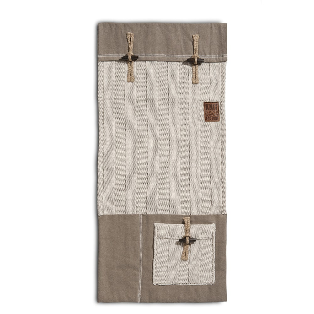 knit factory 1121012 pocket 6x6 rib beige