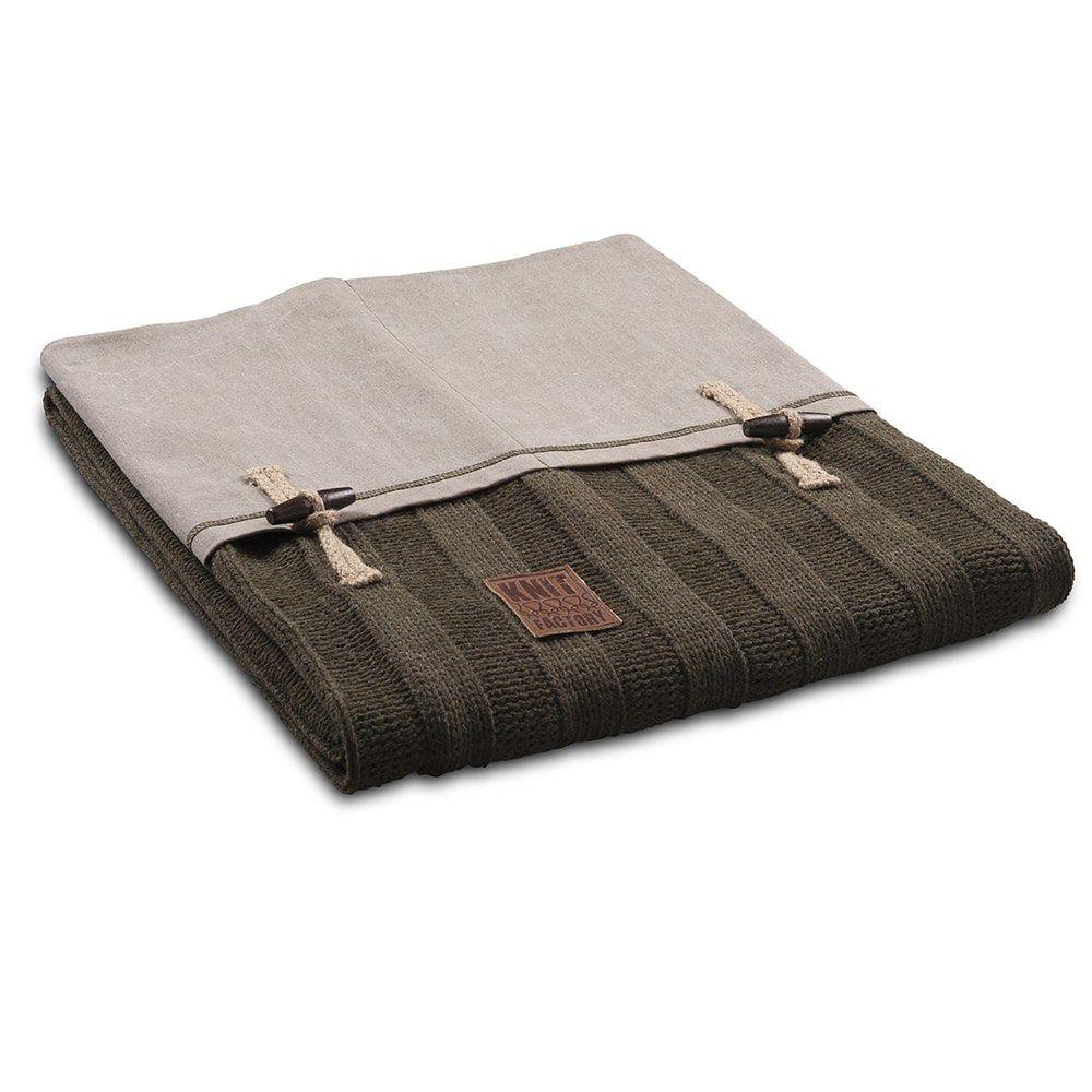 knit factory 1121114 plaid 6x6 rib groen