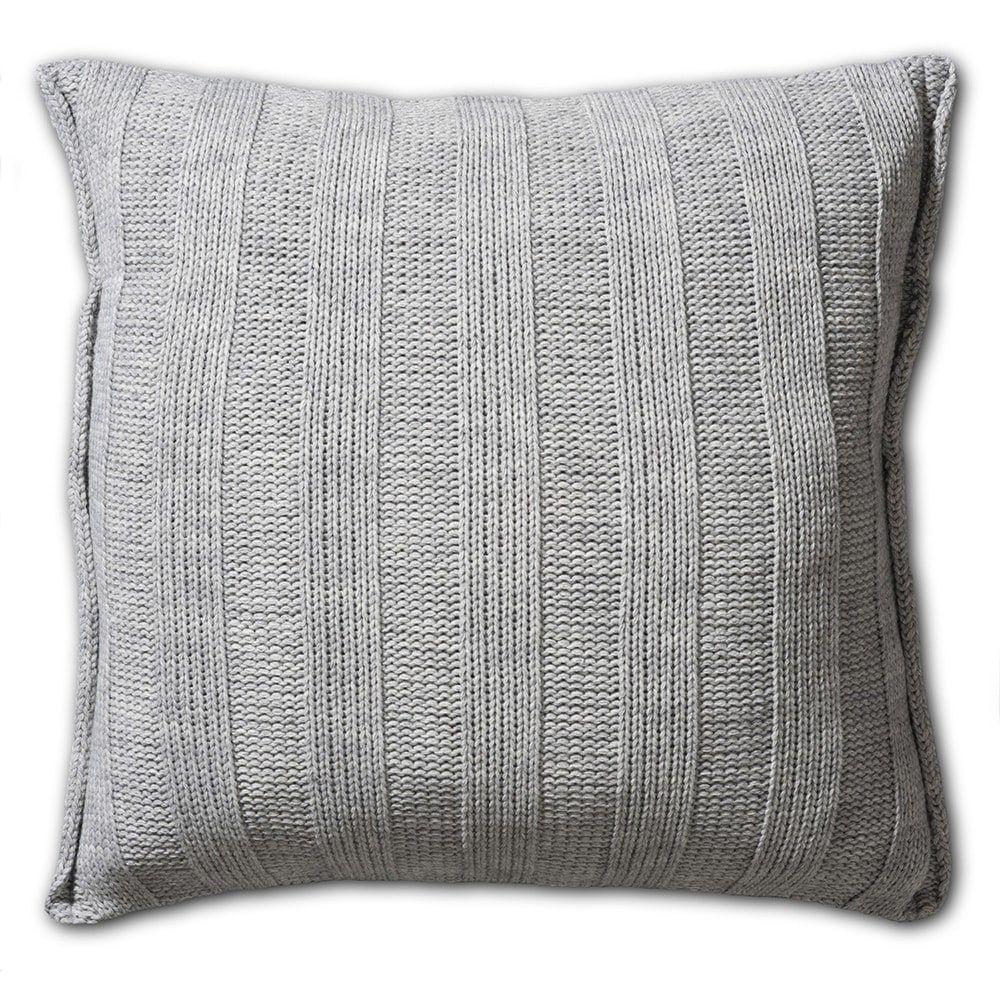 knit factory 1121211 kussen 50x50 6x6 rib licht grijs 2