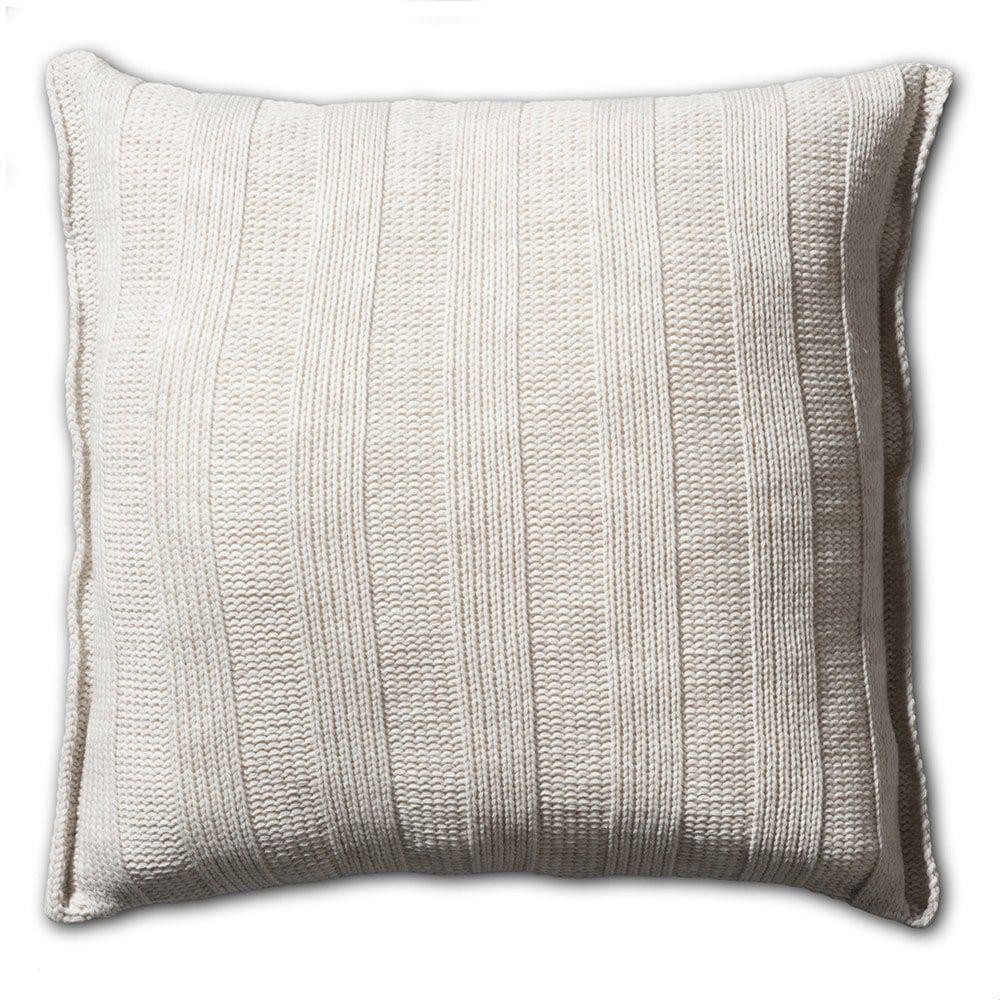 knit factory 1121212 kussen 50x50 6x6 rib beige 2
