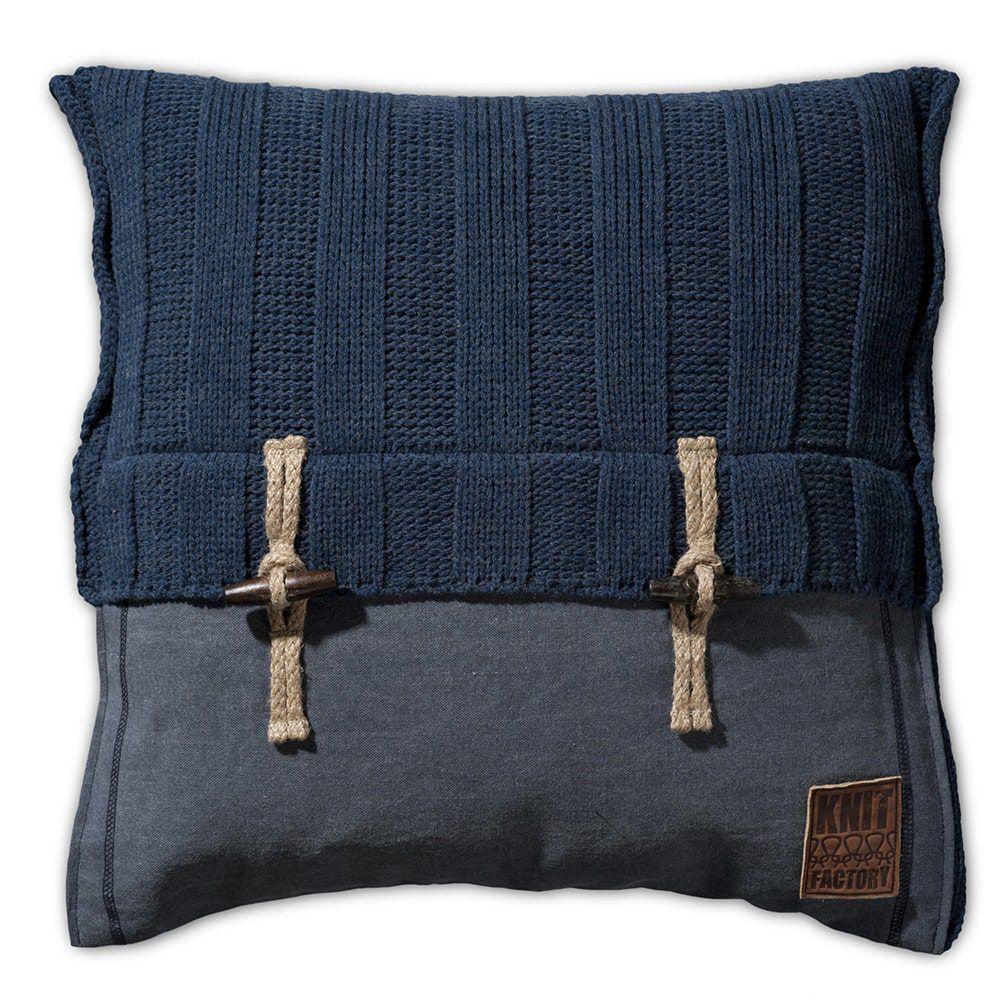 knit factory 1121213 kussen 50x50 6x6 rib jeans 1