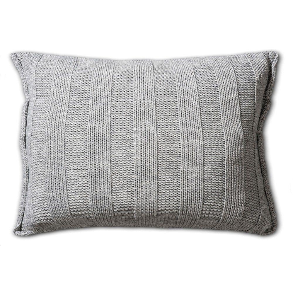knit factory 1121311 kussen 60x40 6x6 rib licht grijs 2