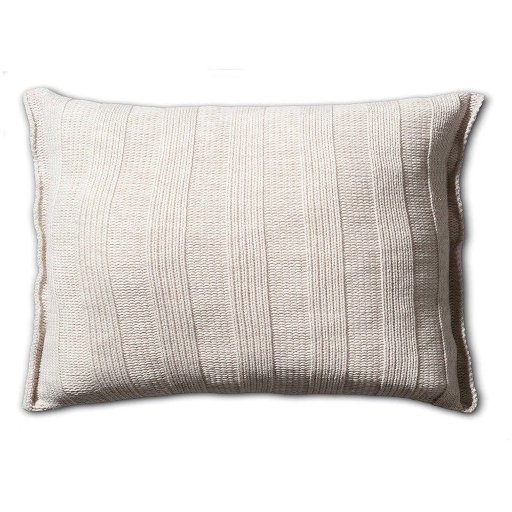 knit factory 1121312 kussen 60x40 6x6 rib beige 2