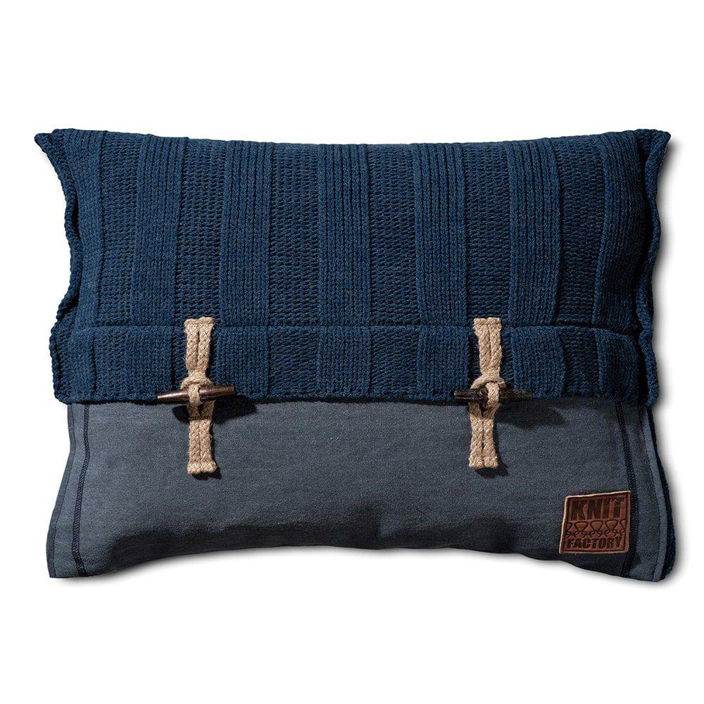 knit factory 1121313 kussen 60x40 6x6 rib jeans 1