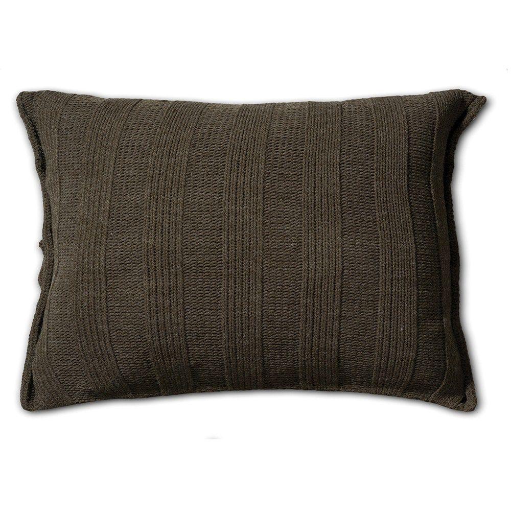 knit factory 1121314 kussen 60x40 6x6 rib groen 2