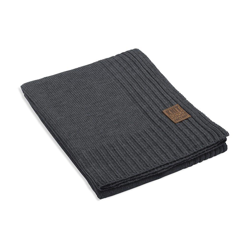 knit factory 1131110 plaid uni antraciet