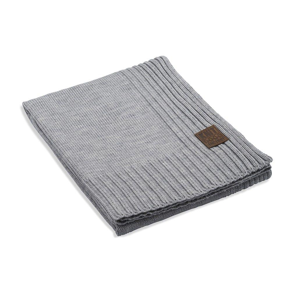 knit factory 1131111 plaid uni licht grijs