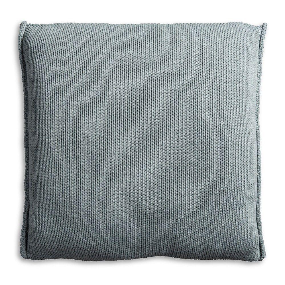 knit factory 1131209 kussen 50x50 uni stone green 2