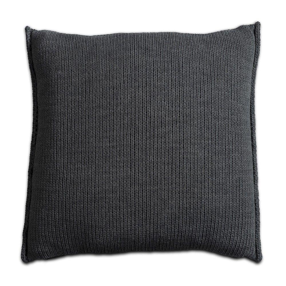 knit factory 1131210 kussen 50x50 uni antraciet 2