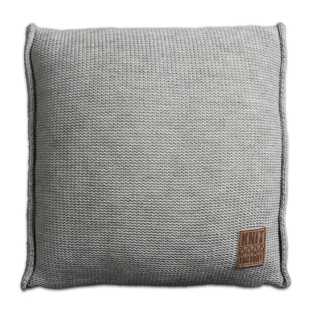 knit factory 1131211 kussen 50x50 uni licht grijs 1