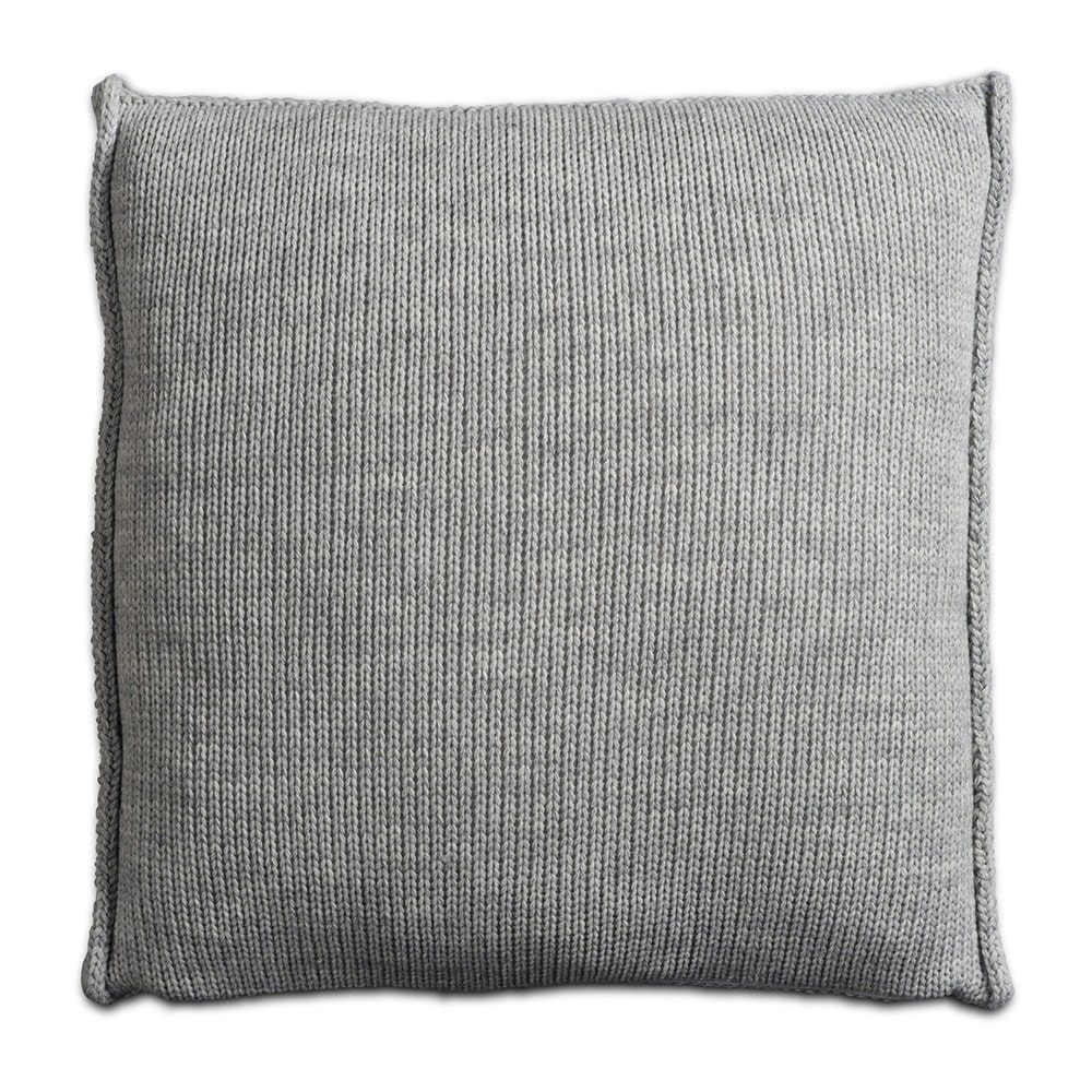 knit factory 1131211 kussen 50x50 uni licht grijs 2