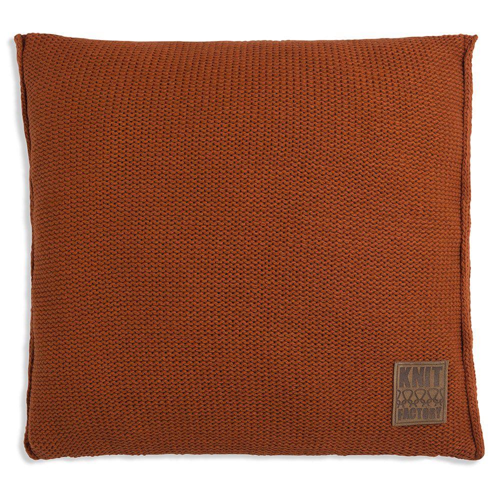 knit factory 1131216 kussen 50x50 uni terra 1