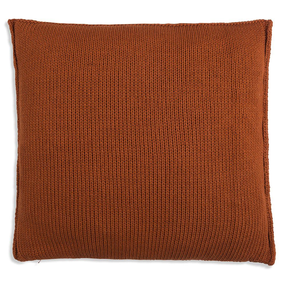 knit factory 1131216 kussen 50x50 uni terra 2
