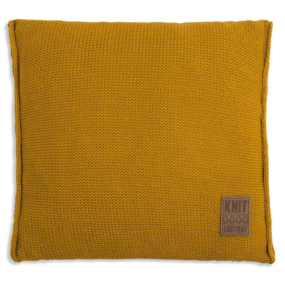 knit factory 1131217 kussen 50x50 uni oker 1