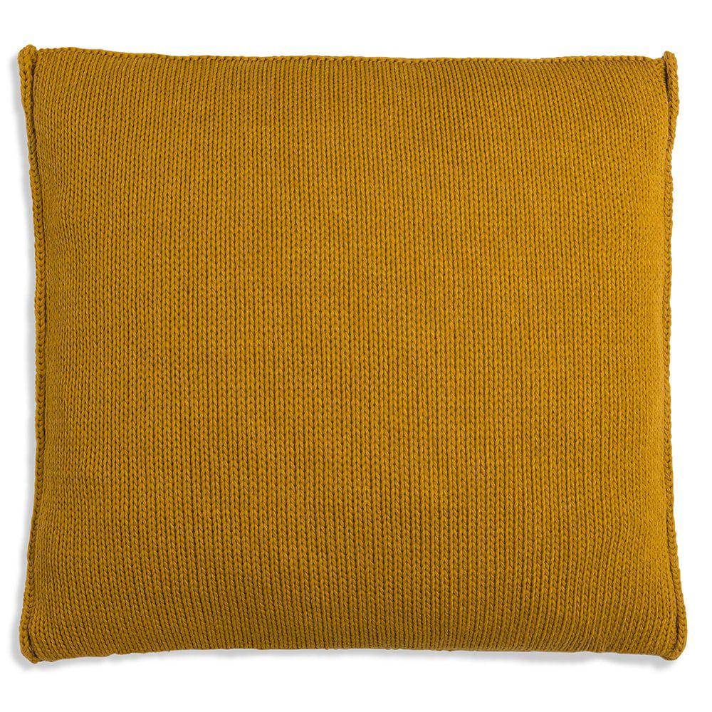 knit factory 1131217 kussen 50x50 uni oker 2