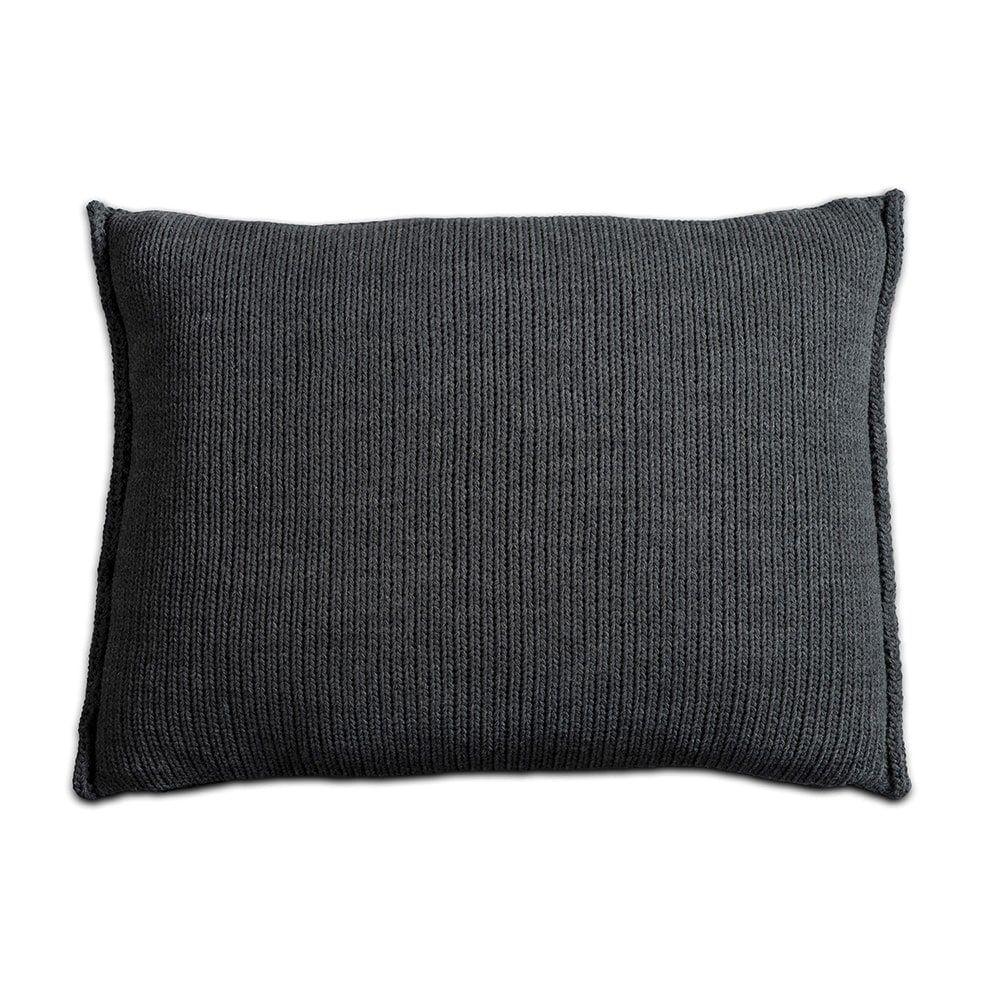 knit factory 1131310 kussen 60x40 uni antraciet 2