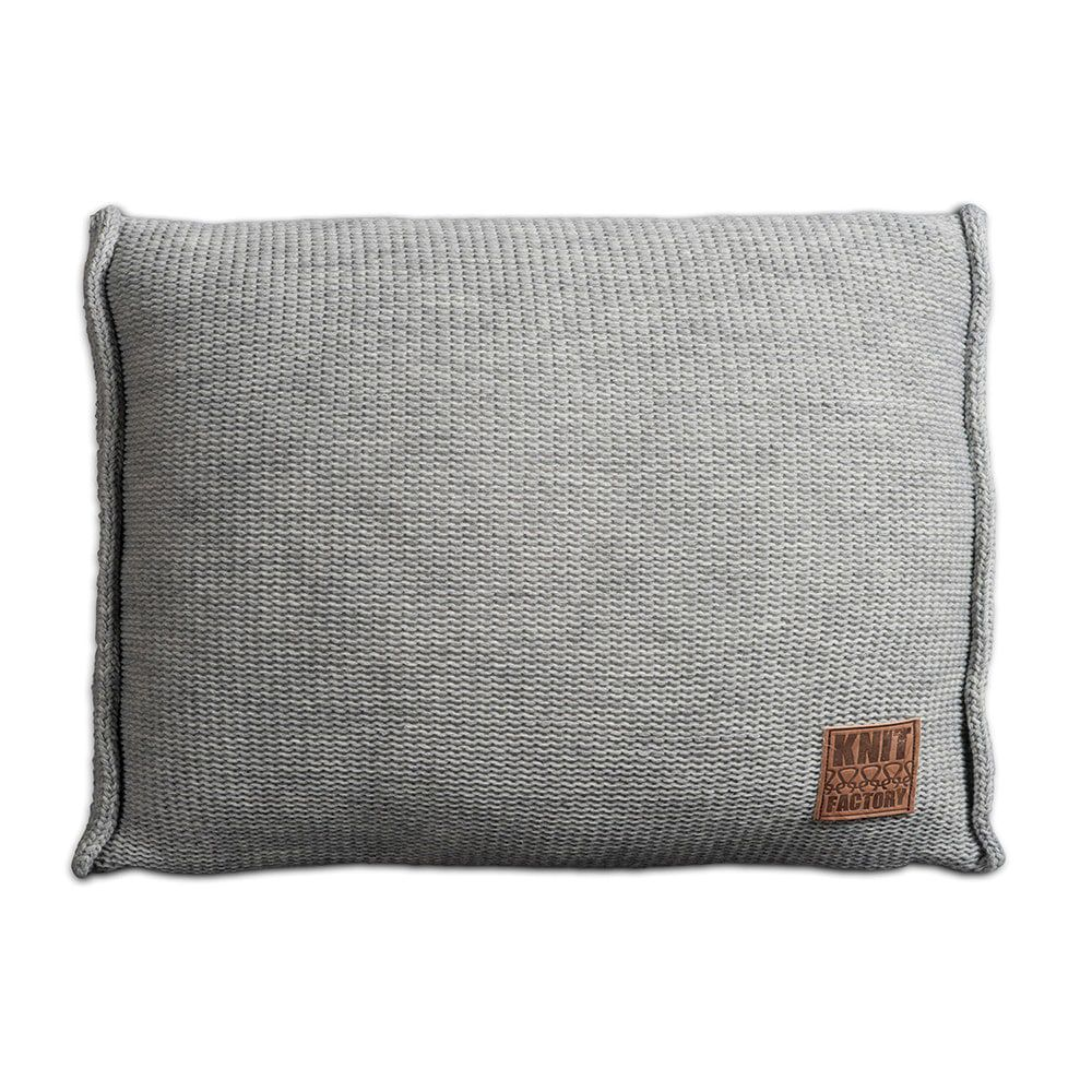 knit factory 1131311 kussen 60x40 uni licht grijs 1