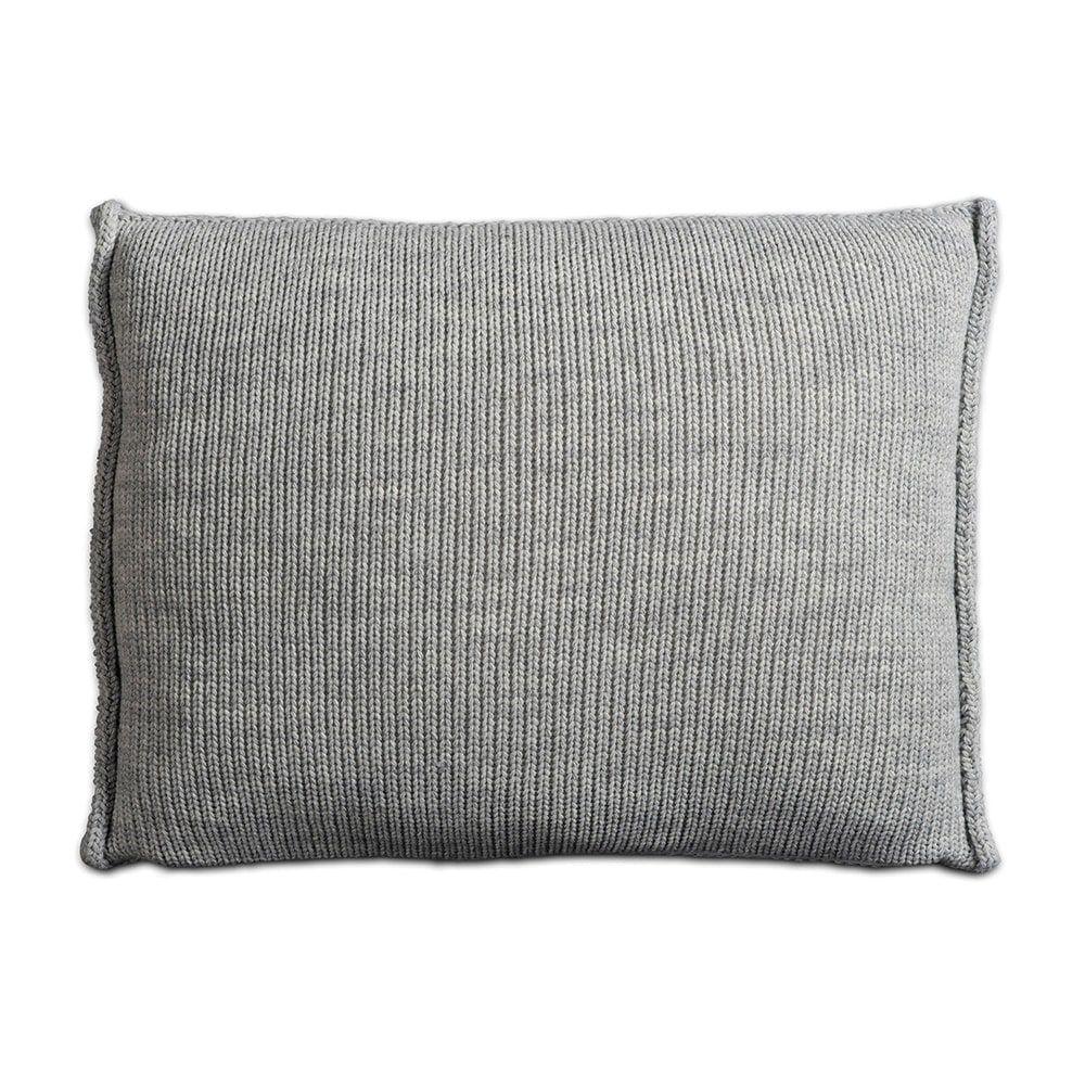 knit factory 1131311 kussen 60x40 uni licht grijs 2