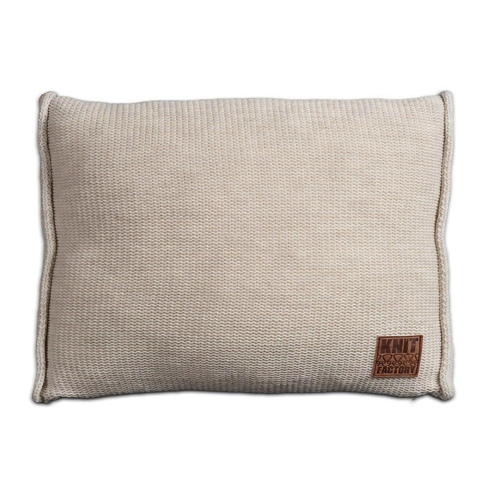 knit factory 1131312 kussen 60x40 uni beige 1