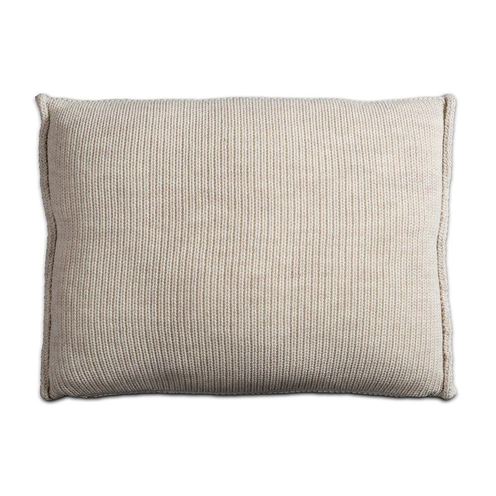 knit factory 1131312 kussen 60x40 uni beige 2