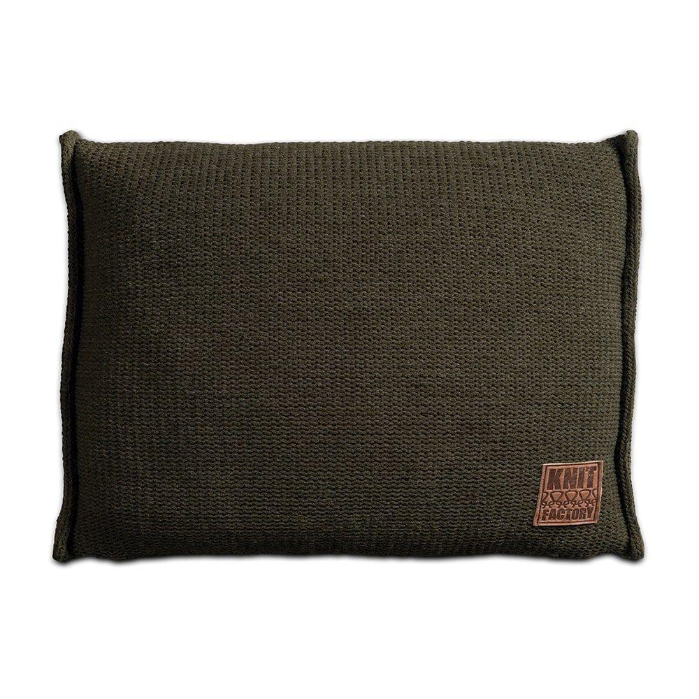 knit factory 1131314 kussen 60x40 uni groen 1