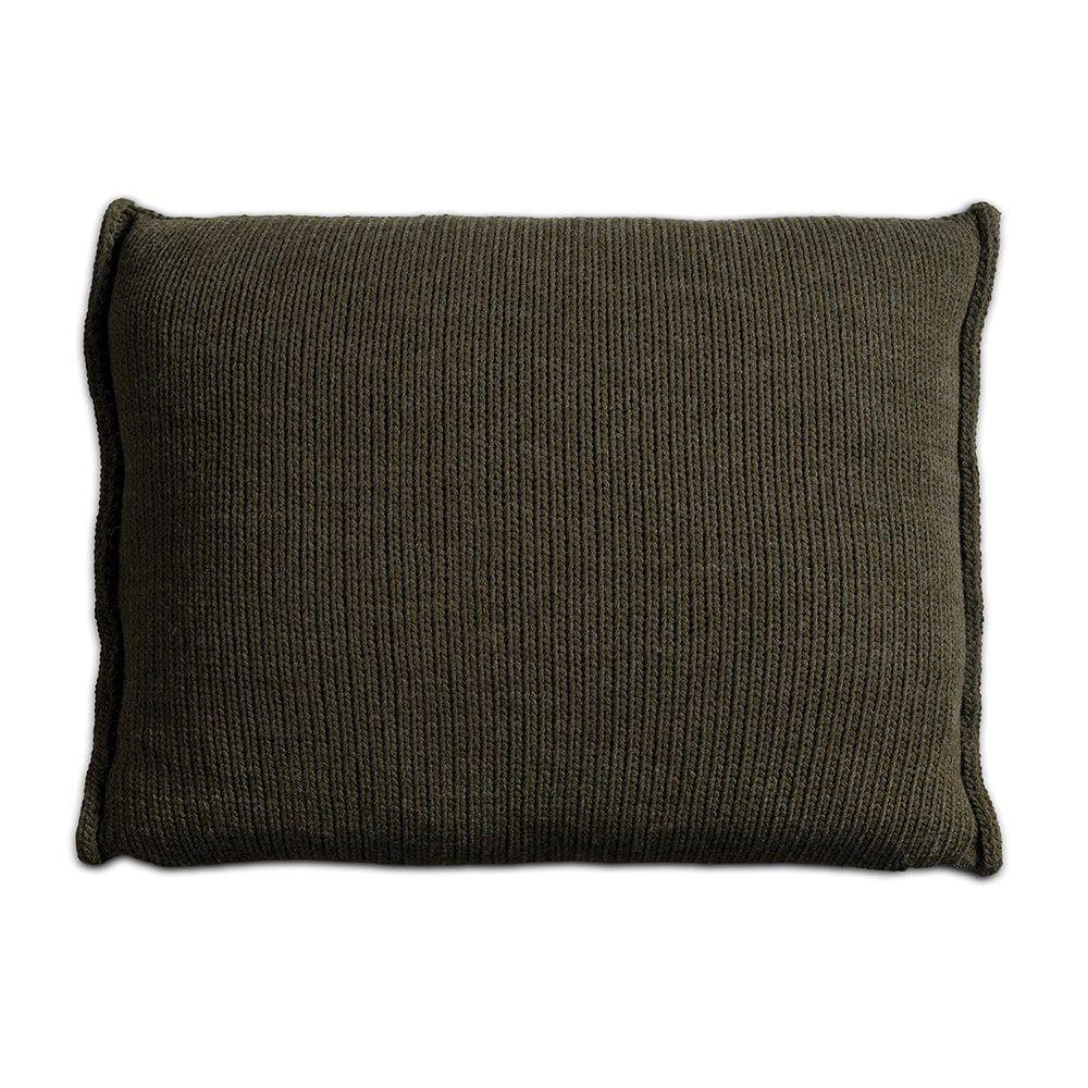 knit factory 1131314 kussen 60x40 uni groen 2
