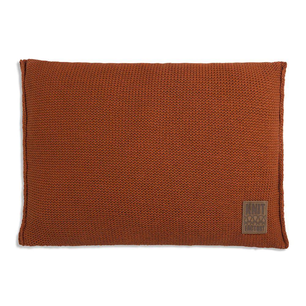 knit factory 1131316 kussen 60x40 uni terra 1