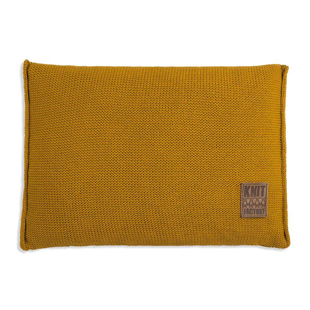 knit factory 1131317 kussen 60x40 uni oker 1