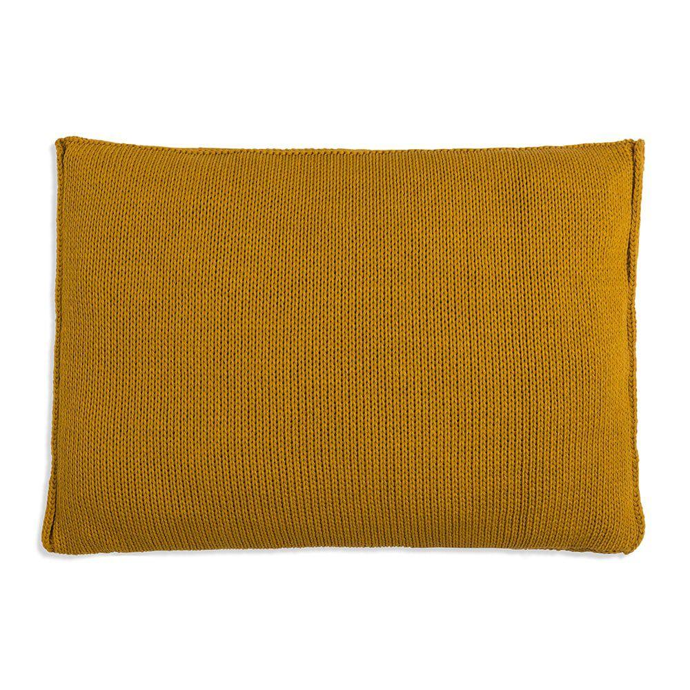 knit factory 1131317 kussen 60x40 uni oker 2