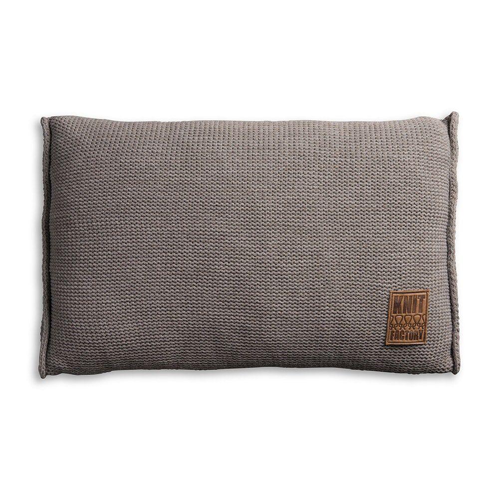 knit factory 1131329 kussen 60x40 uni taupe 1