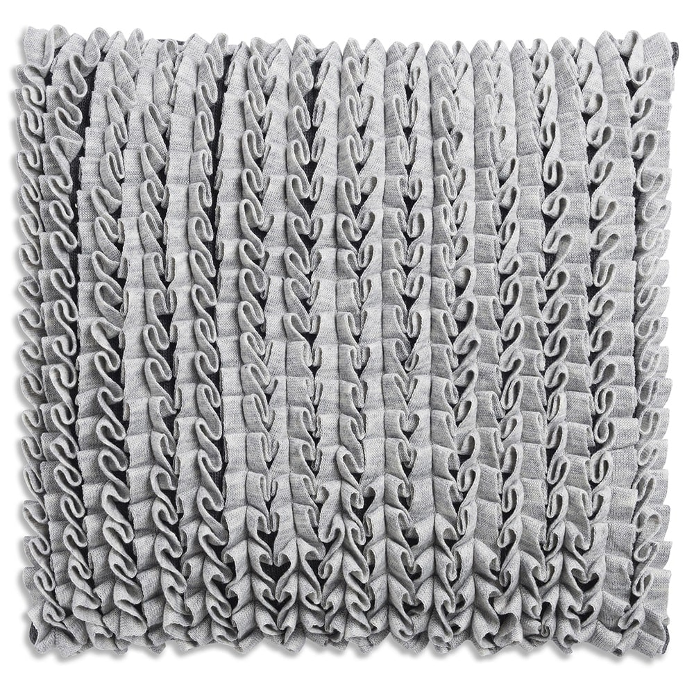 knit factory 1151251 kussen 50x50 sara grijs antraciet 1