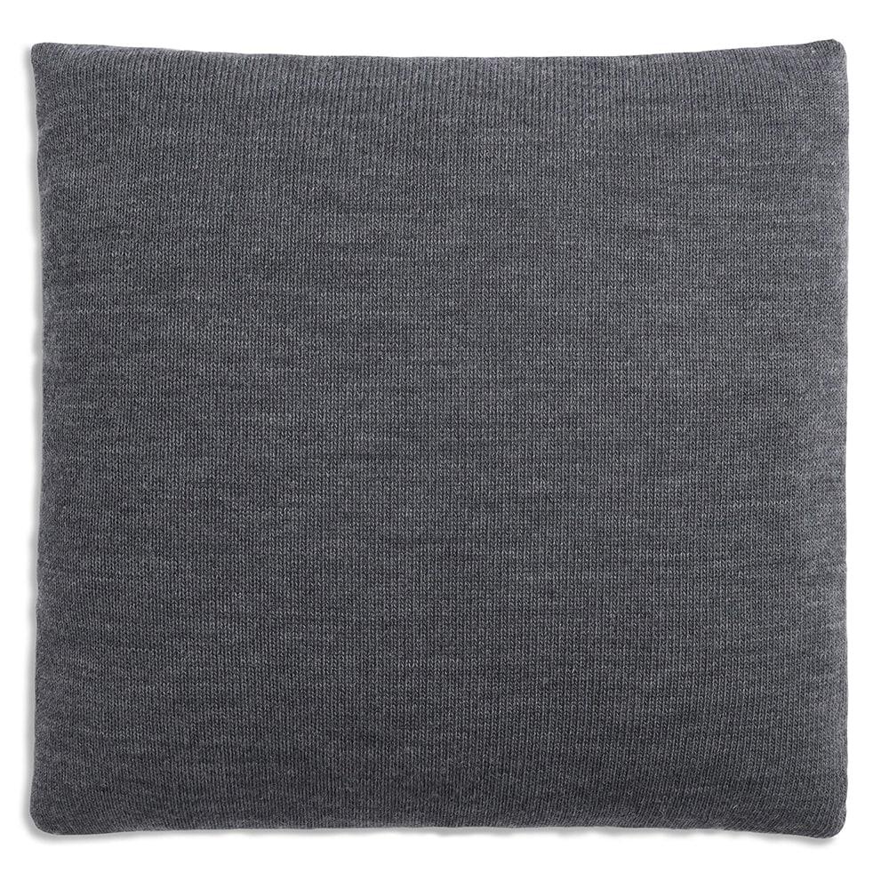 knit factory 1151251 kussen 50x50 sara grijs antraciet 2