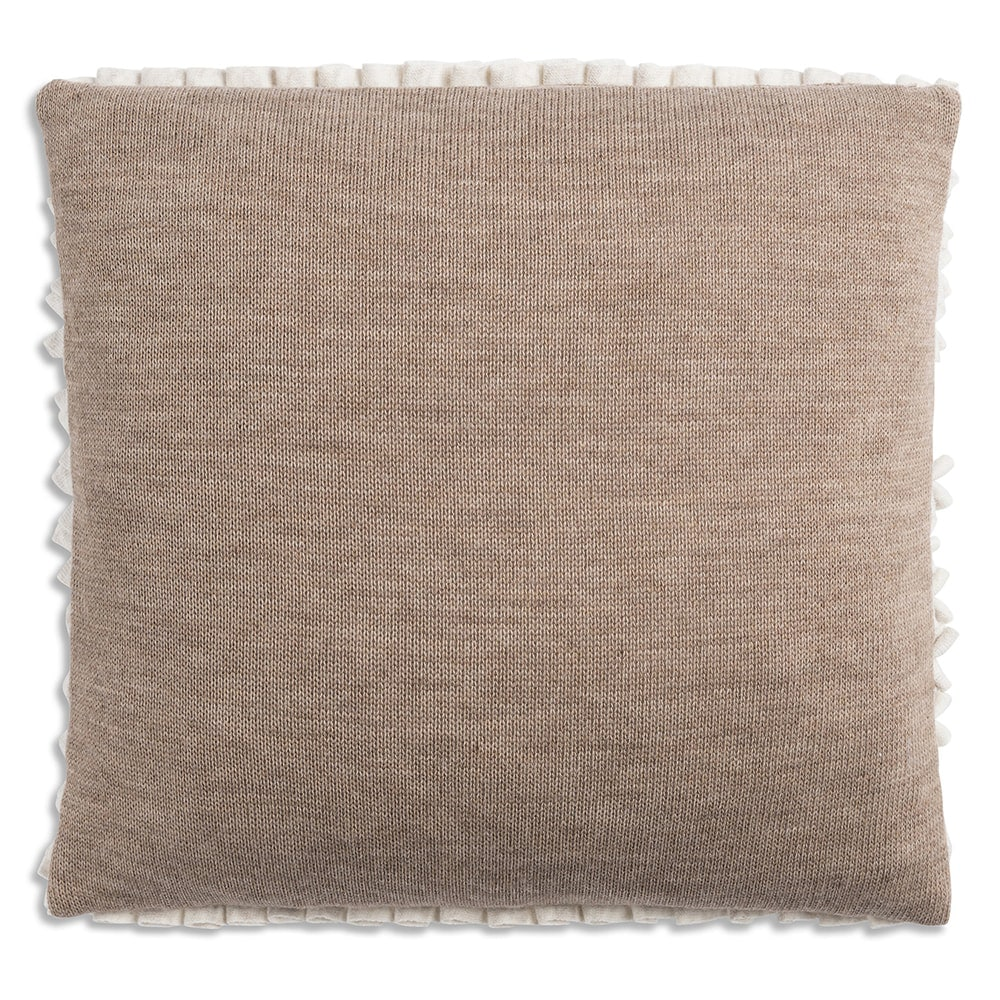 knit factory 1151252 kussen 50x50 sara beige marron 2