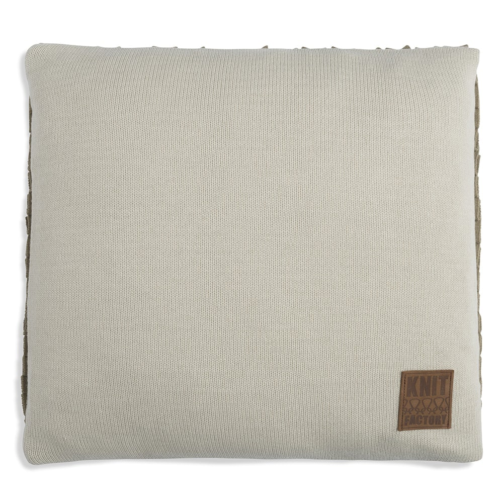 knit factory 1151256 kussen 50x50 sara olive seda 2
