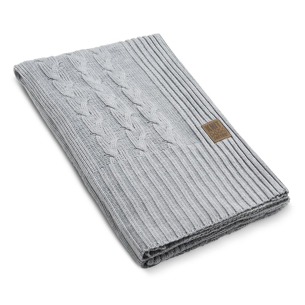 knit factory 1161111 plaid sasha licht grijs