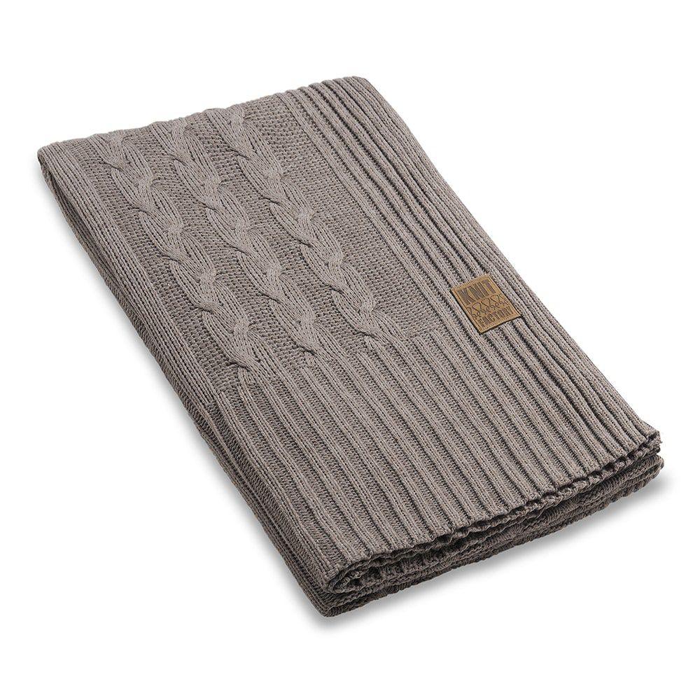 knit factory 1161129 plaid sasha taupe