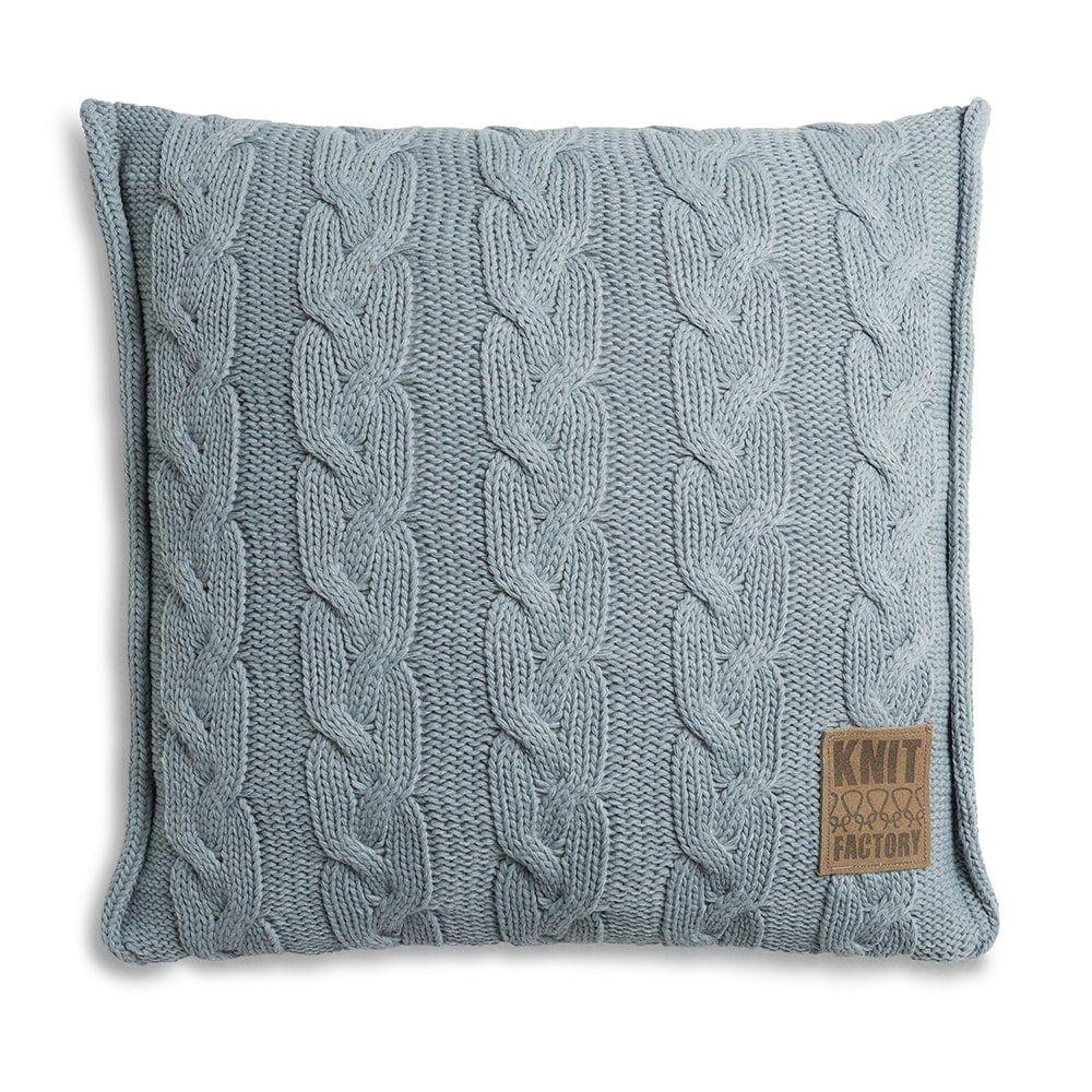 knit factory 1161209 kussen 50x50 sasha stone green 1