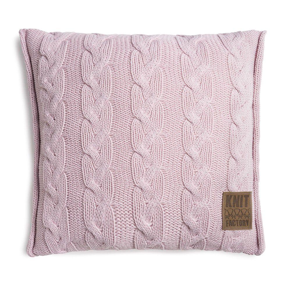 knit factory 1161221 kussen 50x50 sasha roze 1