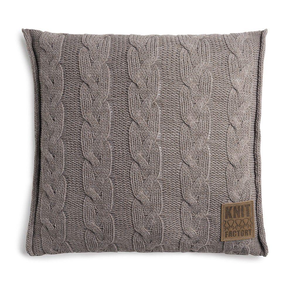 knit factory 1161229 kussen 50x50 sasha taupe 1