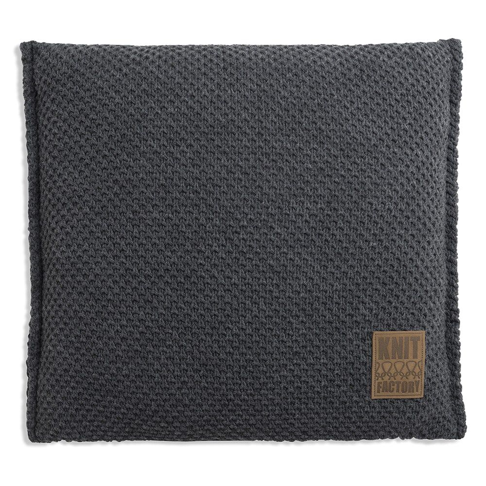 knit factory 1181210 kussen 50x50 lynn antraciet 1
