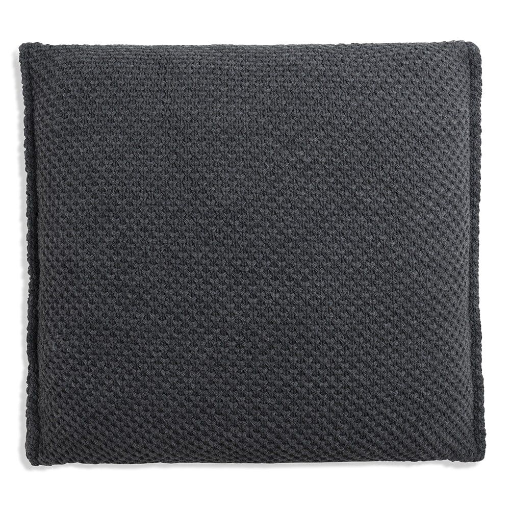 knit factory 1181210 kussen 50x50 lynn antraciet 2
