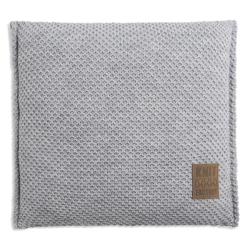 knit factory 1181211 kussen 50x50 lynn licht grijs 1