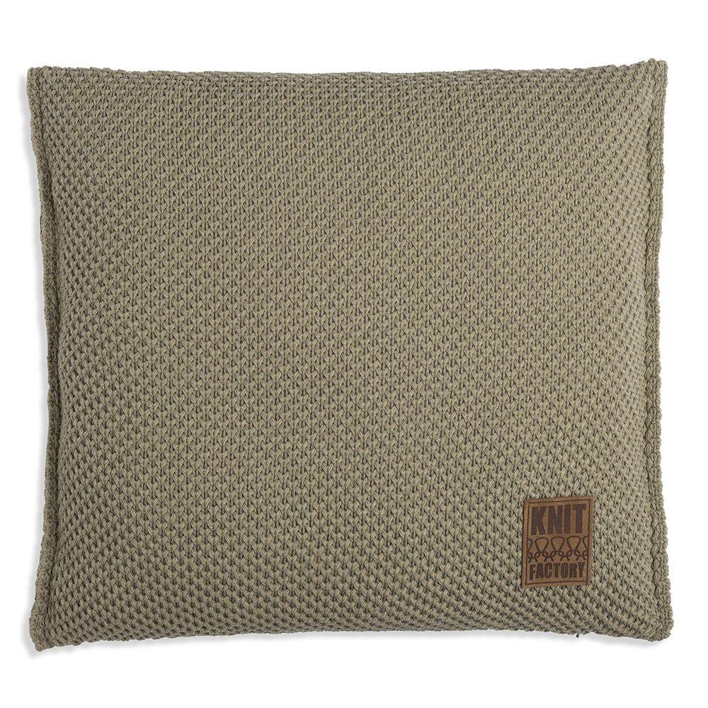 knit factory 1181233 kussen 50x50 lynn olive 1