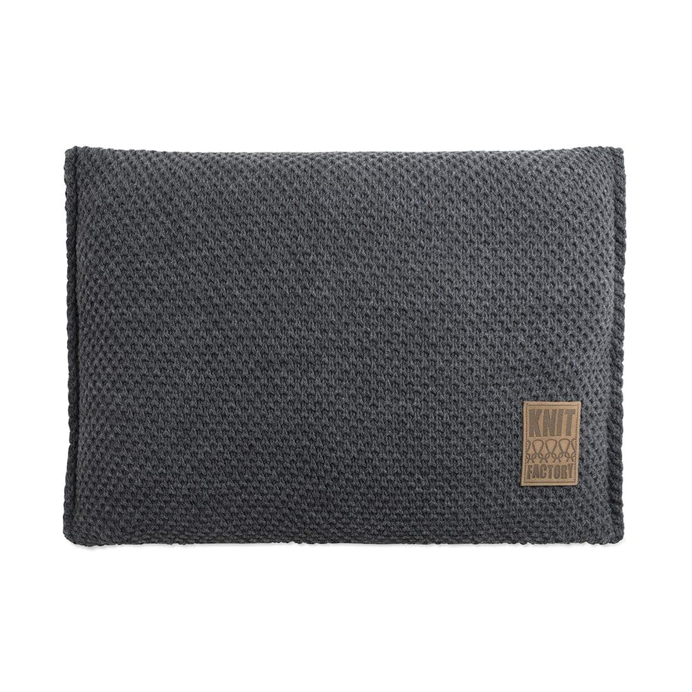 knit factory 1181310 kussen 60x40 lynn antraciet 1